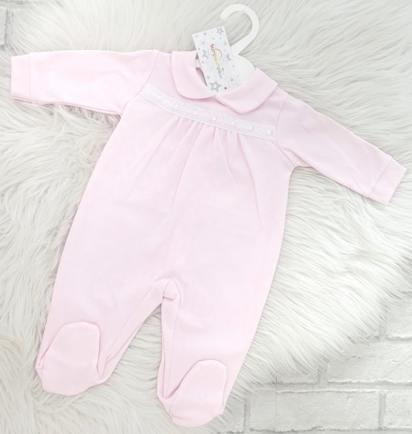 Baby Girls Pink Babygrow