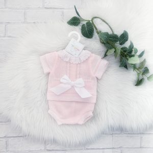 Baby Girls Light Knit Pink Outfit