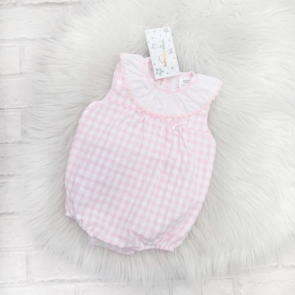 2da3fe0a3 Gingham Romper Suit | Baby Girls Summer Romper | Bumpalumpa.com