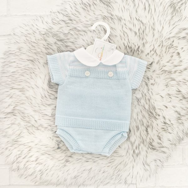 Baby Boys Blue Summer Pram Set