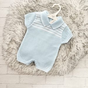 Baby Boys Blue Short romper suit