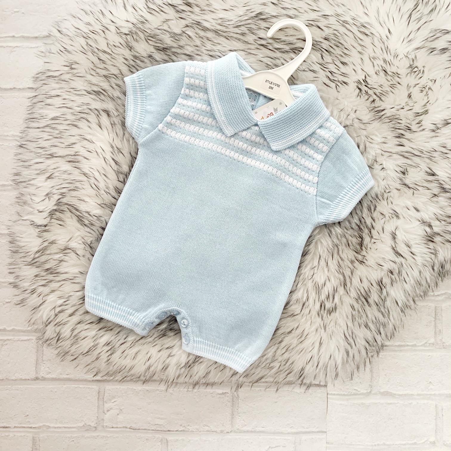 c9213cd5 Baby Boys Blue Short romper suit