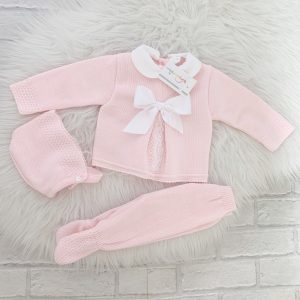 Baby Girls Pink Pram Suit