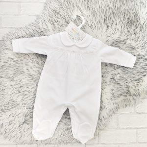 Unisex White Babygrow
