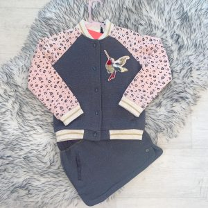 Girls Jacket & Skirt Outfit