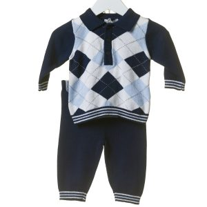Baby Boys Navy Jumper & Trouser Set