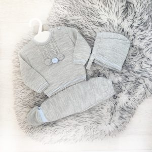 Grey Baby Outfit