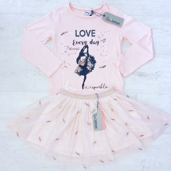 Girls Ballerina Style Outfit