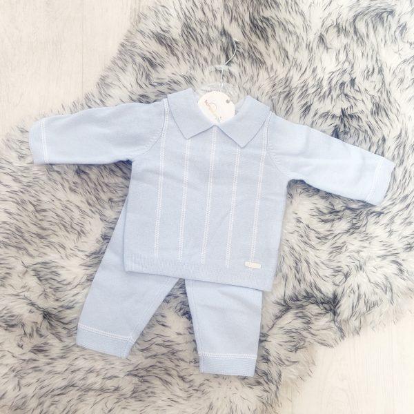 Baby Boys Blue Jumper & Trouser Set