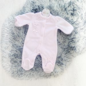 Baby Girls Soft Pink Babygrow