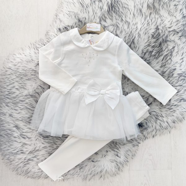 Baby Girls Dress & Leggings Outfit