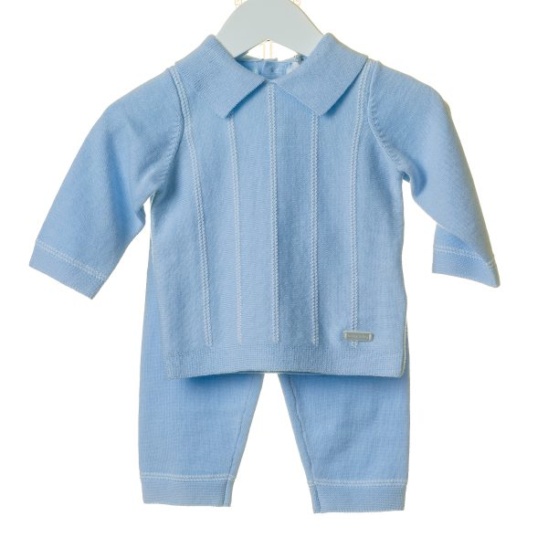 Baby Boys Blue Jumper & Trouser Set