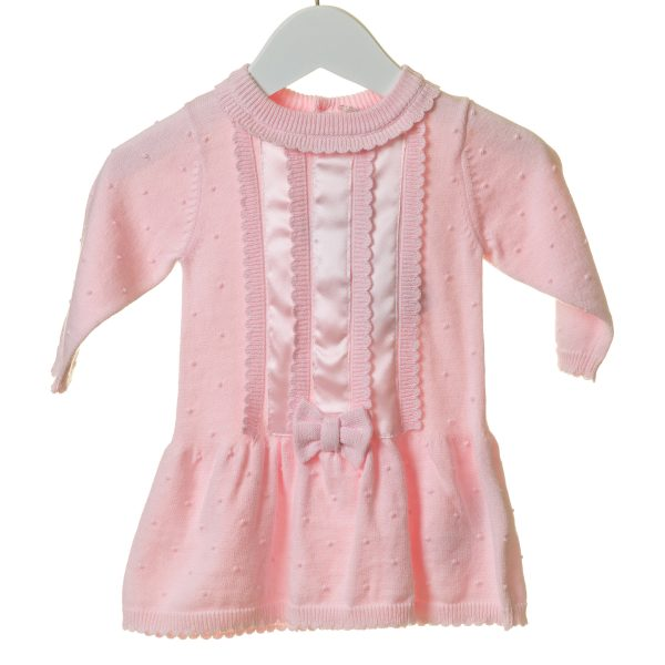 Baby Girls Pink Dress with Bow