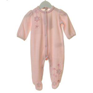 Baby Girls Soft Pink Babygrow