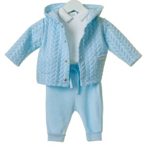 Baby Boys Blue 3 Piece Outfit