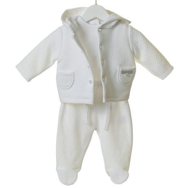 Unisex White Baby Outfit