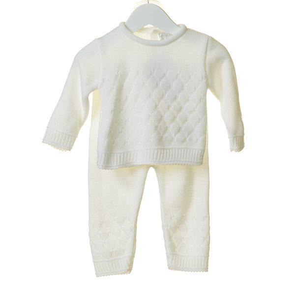 Unisex White Baby Set