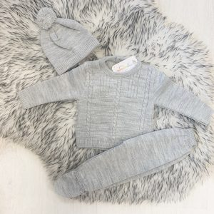 Baby Boys Three Piece Grey Set