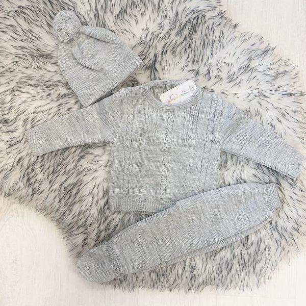 Baby Boys Three Piece Grey Set