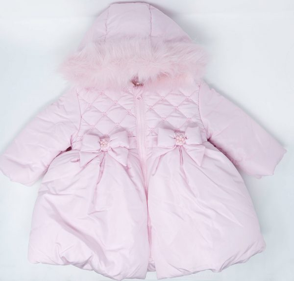 Baby Girls Pink Padded Coat