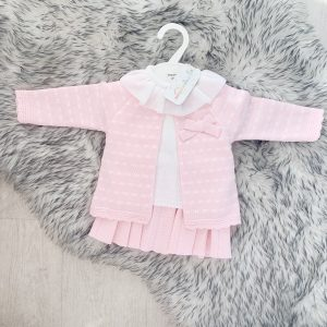 Baby Girls Pink Top & Trousers Set