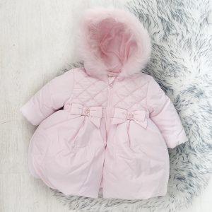 Baby Girls Pink Padded Coat