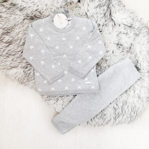 Grey Knitted Star Outfit