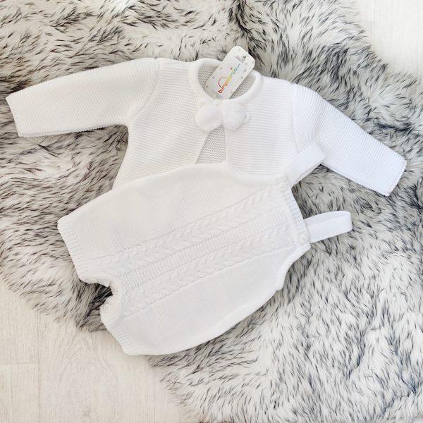 Unisex Baby Romper & Cardigan Set