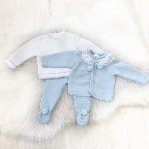 Baby Boys Top, Cardigan & Trouser Set
