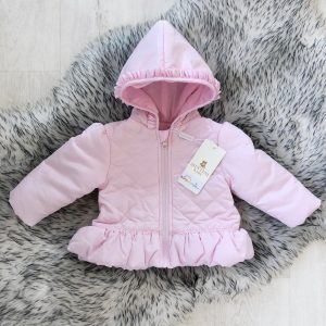 Baby Girls Pale Pink Padded Coat