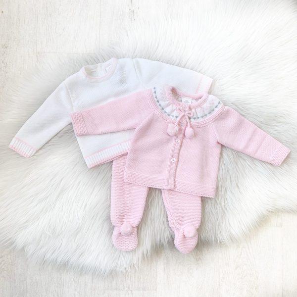 Baby Girls Top, Cardigan & Trouser Set