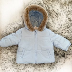 Baby Boys Blue Padded Coat