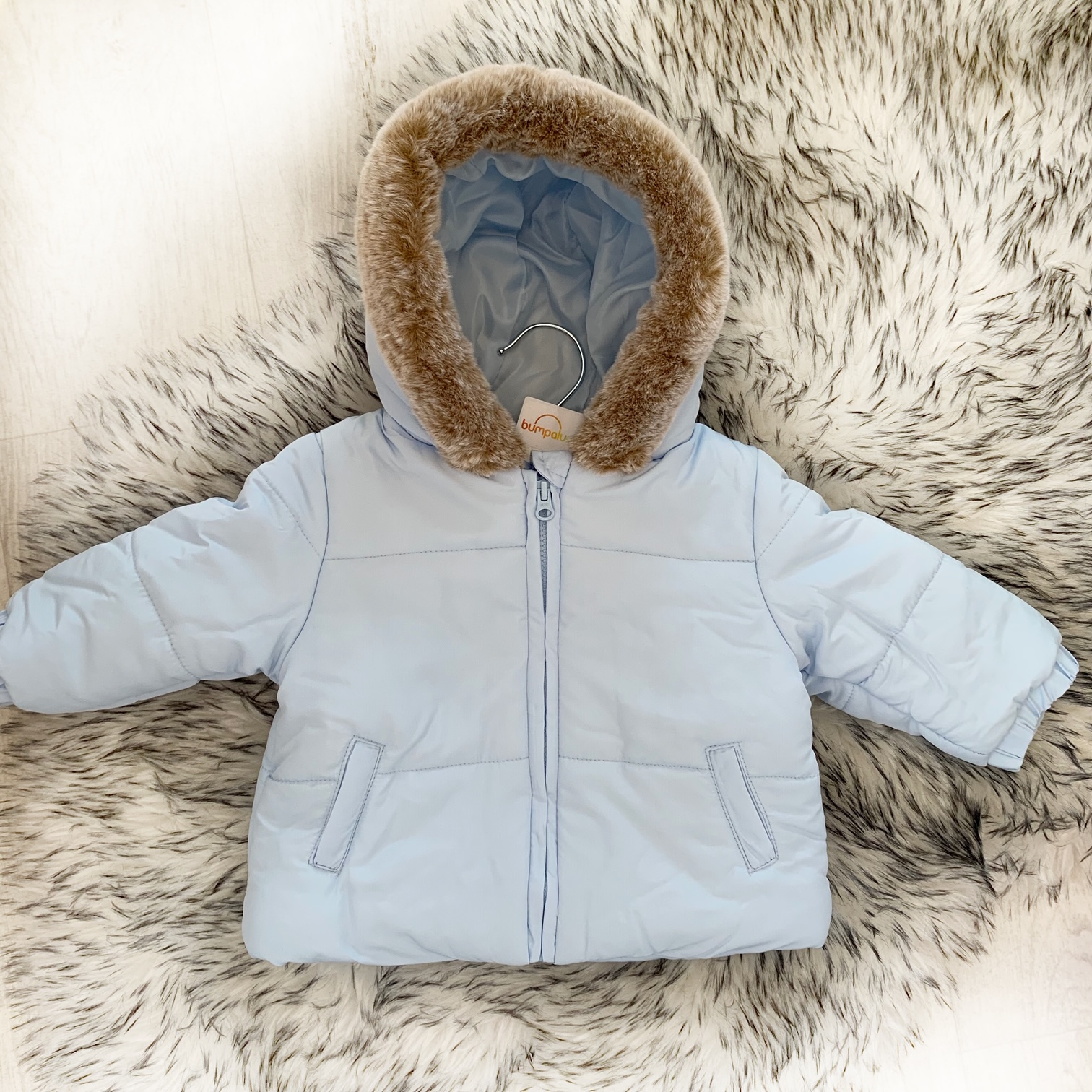 Baby Boys Blue Padded Coat Toddlers Blue Coat