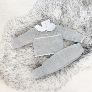 Grey & White Baby Set