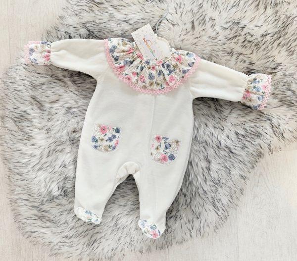 Baby Girls Ivory Babygrow