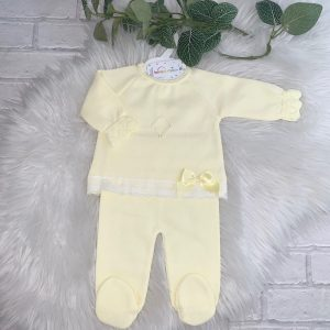 Baby Girls Lemon Top & Trousers Set