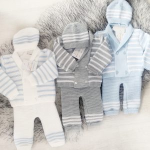 Baby Boys Knitted Cardigan Set