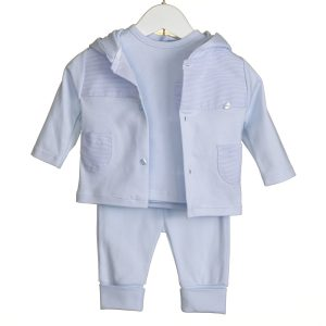 Toddlers Blue Three Piece Set