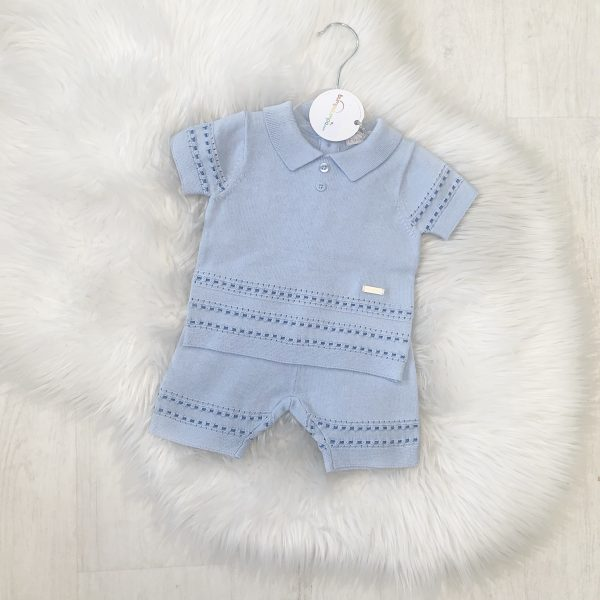 Bluesbaby Boys Blue & White Shirt Set