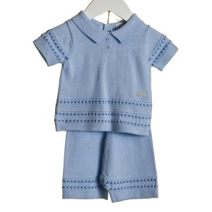 Bluesbaby Boys Blue & White Shirt Set