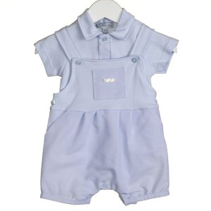 Baby Boys Blue Dungaree Set