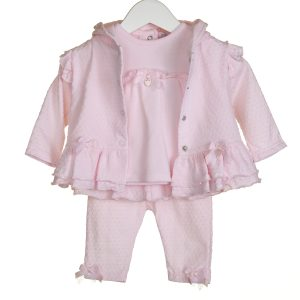 Pink Baby Girls Three Piece Set