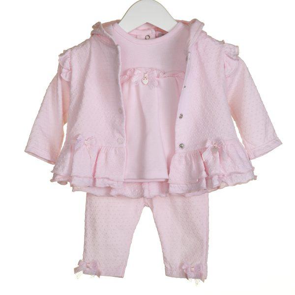 Pink Baby Girls Three Piece Set