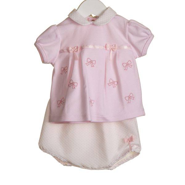 Baby Girls Pink Top & Bloomers