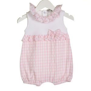 Baby Girls Pink Summer Romper Suit