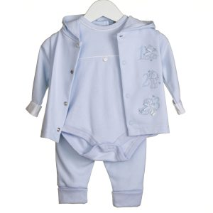Baby Boys Pale Blue 3 Piece Set