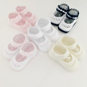 Baby Girls Crochet Shoes