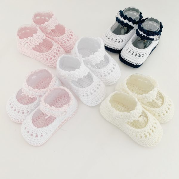 Baby Girls Crochet Shoes