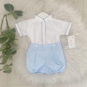 Baby Boys Smart Shorts & Shirt Set