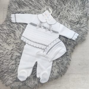 Grey Baby Outfit Three Piece Set